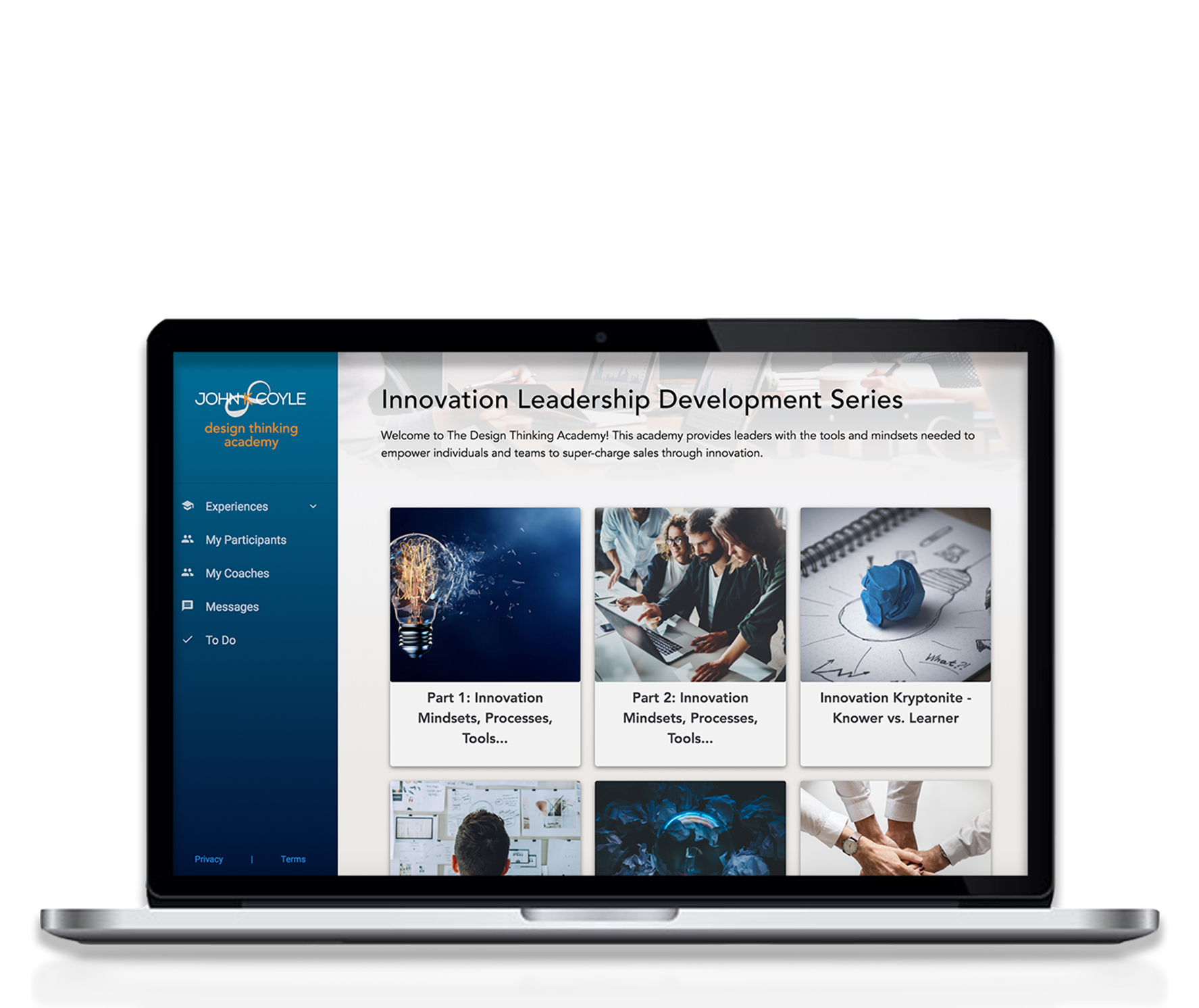 Sign up for Design Thinking Academy